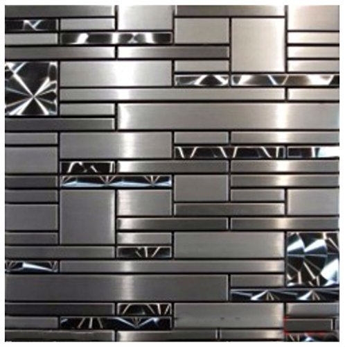 10 SF- Stainless Steel Metal pattern Mosaic Tile Kitchen Backsplash Wall Sink by Unbranded*
