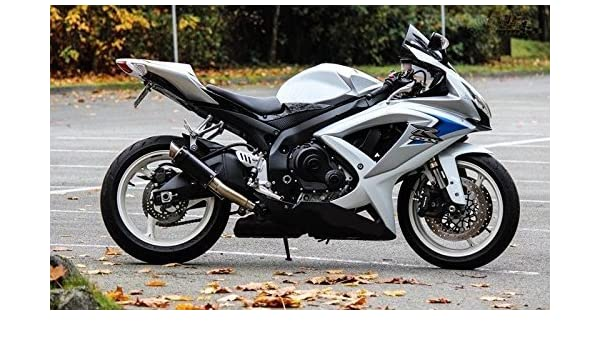 Suzuki Gsxr 600 >> Amazon Com Usa White Silver Blue Injection Fairing Complete