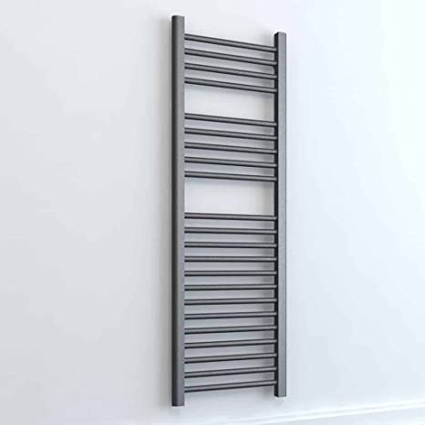 25mm Bars Sol*Aire Heating Products Bray Straight Thermostatic Electric Heated Towel Rail//Warmer//Radiator With Timer High Output 800 x 300 Kitchen Round Tube White For Bathroom