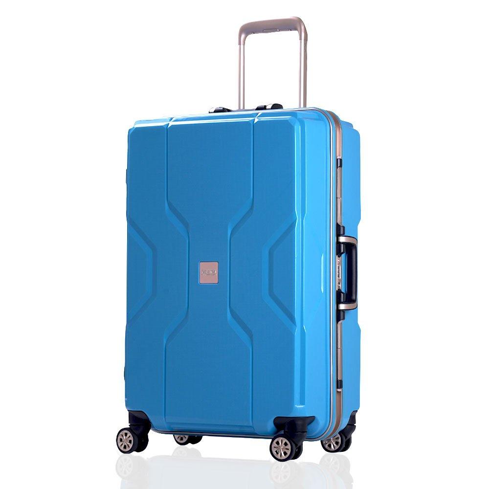 (モダンニズム) MODERNISM スーツケース M3002 ECO素材 キャリーバッグ 3サイズ TSAロック 【一年修理保証】 スーツケース キャリーケース (Mサイズ-ファスナータイプ, ブルー) B074N2SWTM
