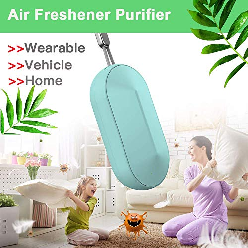 NEEDL CO Portable PM2.5 air Purifier,Mini Car Air Purifier Fresh Car Lonizer Air Cleaner, Car Air Freshener with Filter,Air Cleaner Captures Mold Dust for Personal Use in Car, Office Home,Filter