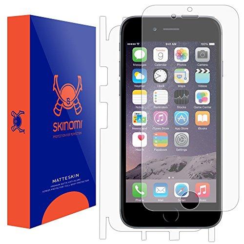 iPhone 6 Screen Protector + Full Body (Apple iPhone 6S 4.7), Skinomi MatteSkin Full Skin Coverage + Screen Protector for Apple iPhone 6 Anti-Glare and Bubble-Free Shield