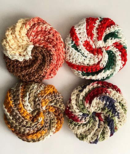 Amazoncom Crochet Tawashi Pot Scrubbersscourerssponges 100