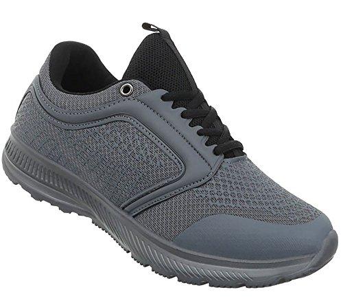 Trainer Freizeitschuhe Sportschuhe Turnschuhe Sneaker Schuhe Grau Laufschuhe Hallenschuhe Herren xEIq4z0ww