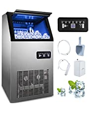 Happybuy Commercial Ice Maker 88lbs-440lbs Commercial Ice Machine Maker 110V Under Counter/Freestanding/Portable Automatic Ice Machine for Restaurant Bar Cafe