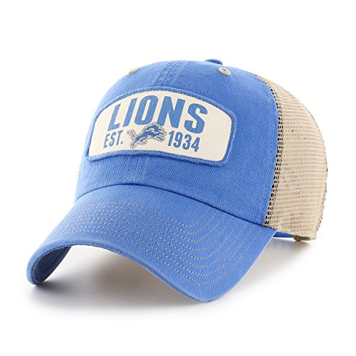 NFL Detroit Lions Woodford OTS Challenger Adjustable Hat, Blue Raz, One Size