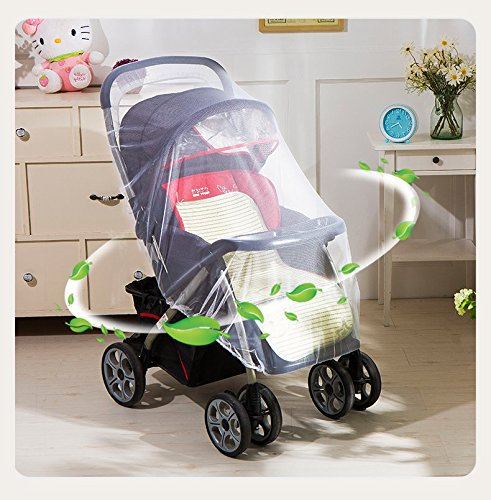Mosquito Net Bug Net for Baby Strollers Infant Carriers Baby Cradle Ultra Fine Mesh Protection Against Mosquitos No Harmful Chemicals Help Baby Stay Away from Bugs (White) by Generic (Image #5)