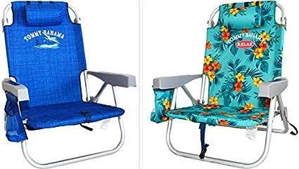 Kirkland Signature backpack beach chair Blue And Green