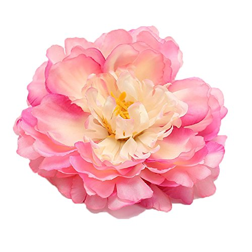 RoyaLily 4.7 Poney Flower Wedding Hair Accessories Festival Hair Clips and Pin Party Brooch (Pink)