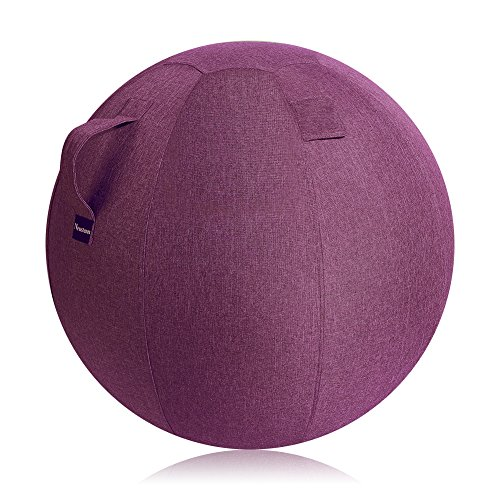 Neustern Balance Ball Chair Covers - Sitting Ball Chair Cover for Yoga, Office, Pilates, Birthing Ball Professional Quality Design Ergonomic with Handel Machine Washable (Wine Red, 65cm) by Neustern