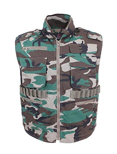 Rothco Ranger Vest, Woodland Camo, Medium - Camo Ranger Vest