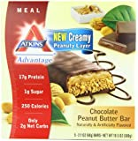 Atkins Advantage Bars, Chocolate Peanut Butter,  2.1-Ounce Bars 5 count, (Pack of 2)