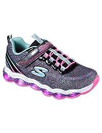 Skechers Kid's Glimmer Lights Sneakers, Black/Multi