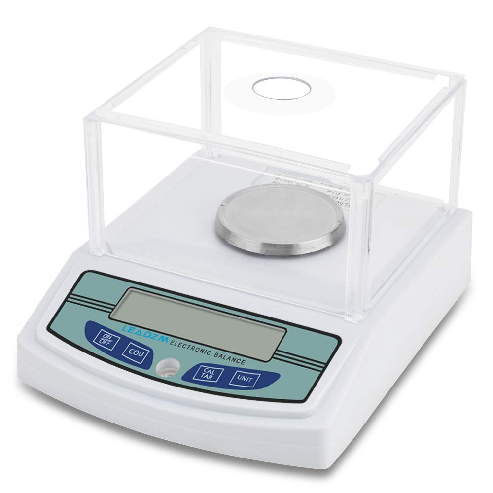 Ian LCD Digital Analytical Balance Accuracy Weighs Scales 10 mg Electronic Laboratory Instrument with 500g Calibration Weight 3000G//0.001G High Precision Scientific Lab Scale