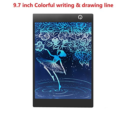 Graphic Lcd - LCD Writing Drawing Tablet - 9.7 Inch Handwriting Drawing Sketching Graffiti Scribble Doodle Board eWriter,Great Gift for Kids (9.7 inch colorful)