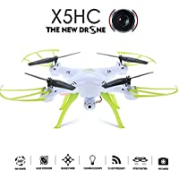 CHIMAERA RC Quadcopter SYMA X5HC Drone 2.0 MP HD Camera Headless Mode Stable Flight System (White)