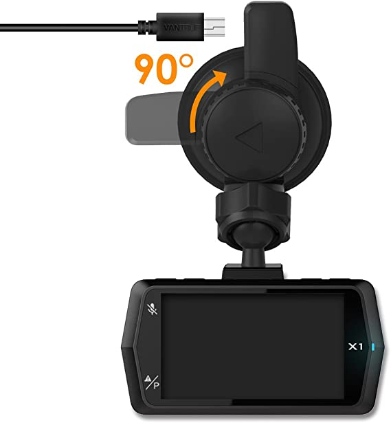 Vantrue N1 Pro X1,Dash Cam Mini USB Port Adhesive Dash Cam Windshield Mount with GPS Receiver Module for Windows and Mac X4 X1 Pro
