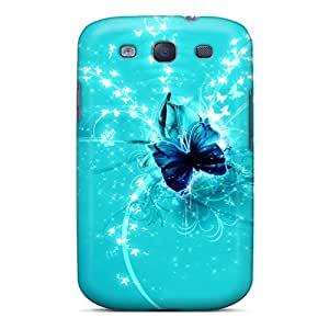 Protection Case For Galaxy S3 / Case Cover For Galaxy(abstract Background Butterfly)