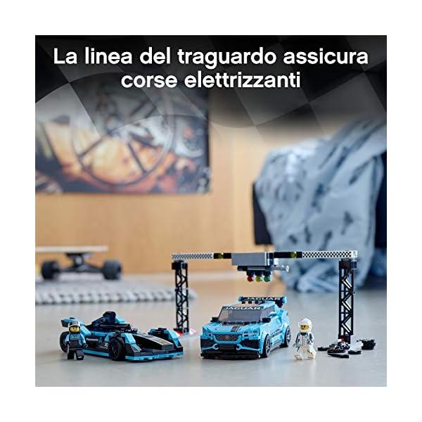 LEGO Speed Champions - Panasonic Jaguar Racing GEN2 e Jaguar I-PACE eTROPHY Modelli che Corrono in Formula E con 2… 4 spesavip