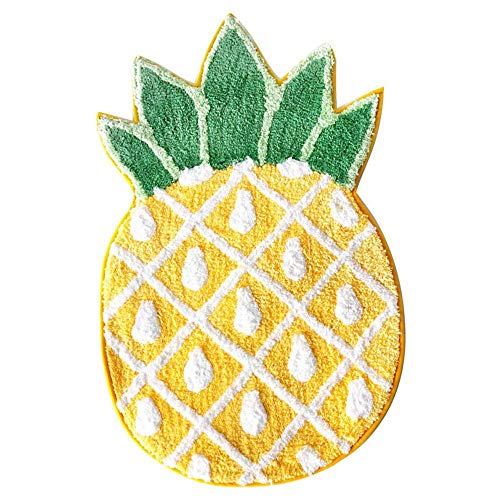 MetaView Pineapple Door Mat Non-Slip Area Rug Home Decor,Pineapple Welcome Rug,Living Room Bedroom Bathroom Rug,Mashine Washable Carpets(32.6