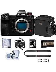 Panasonic Lumix DC-S1H Mirrorless Digital Camera Body Bundle with 128GB SD Card, Card Case, Bag, Peak Design SlideLITE Strap, Extra Battery, Screen Protector, Cleaning Kit photo