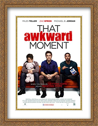 amazon com that awkward moment 28x36 double matted large gold