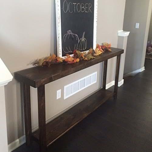 Amazon Com Rustic Large Reclaimed Wood Sofa Console Table