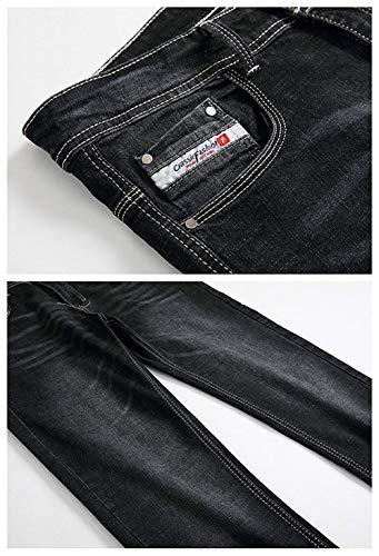 Lavados Rectos Vaqueros Los Colour Fit Hombres Slim Casuales Vendimia Battercake Pantalones Cómodo La Ufig Mezclilla De qETwER