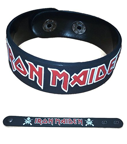 Rock Rubber (IRON MAIDEN NEW RUBBER BRACELET WRISTBAND MUSIC ROCK POP UNISEX MEN WOMEN BLACK WHITE SOUVENIRS GIFT DAY)