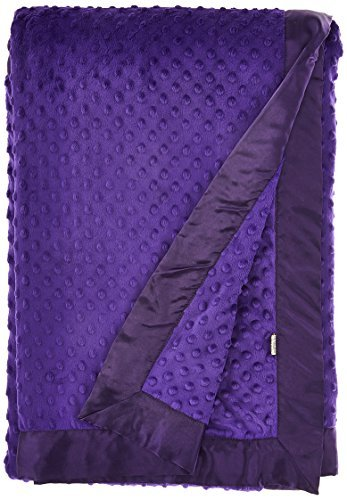 My Blankee Minky Dot Super Throw Blanket, Purple, 60'' x 70'' [並行輸入品] B077ZSZPR8