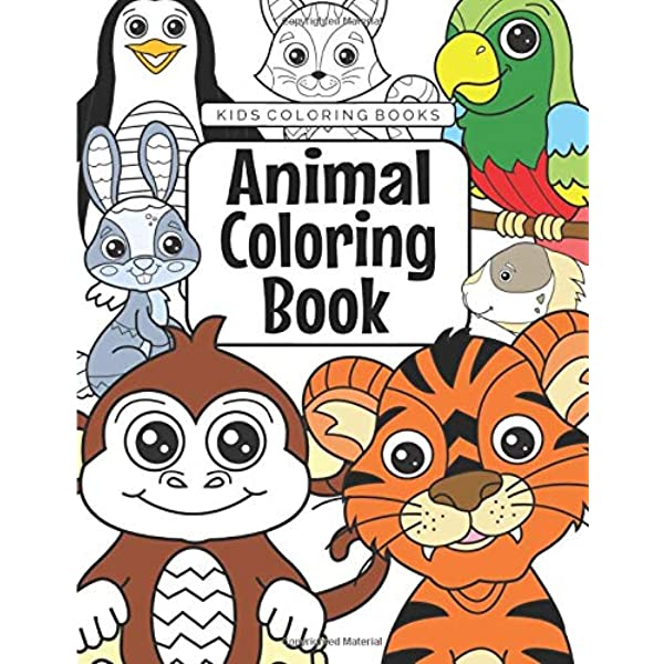 Kids Coloring Books Animal Coloring Book: For Kids Aged 3-8: Foundation,  The Future Teacher: 9781719203913: Amazon.com: Books