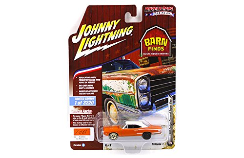 New 1:64 AUTO WORLD JOHNNY LIGHTNING MUSCLE CARS USA 2018 COLLECTION - 1970 Dodge Coronet Super Bee (Go Mango Irid.)