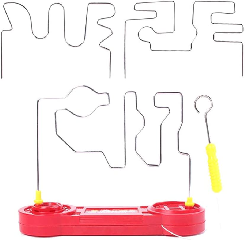 Electric Dont Buzz The Wire Game, Electric Conduction Buzz Wire Game Reliable Classic Tabletop Puzzle Game Educational Toys Bored Games for Kids