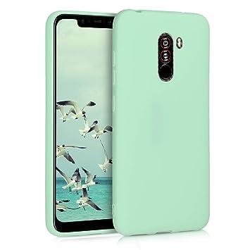 kwmobile Funda para Xiaomi Pocophone F1 - Carcasa para móvil en [TPU Silicona] - Protector [Trasero] en [Menta Mate]
