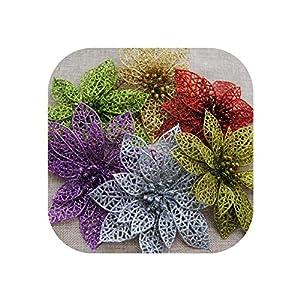 UNstars Artificial Flowers Plastic Glitter Hollow Flower Wedding Artificial Flowers 49
