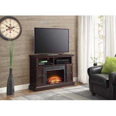"""Whalen Media Fireplace Console for TVs up to 55"""", Dark Cherry"""