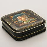 Beautiful Hand-painted Papier-mache Lacquer Box for Jewelry 'The Mermaid' Great Gift for Women