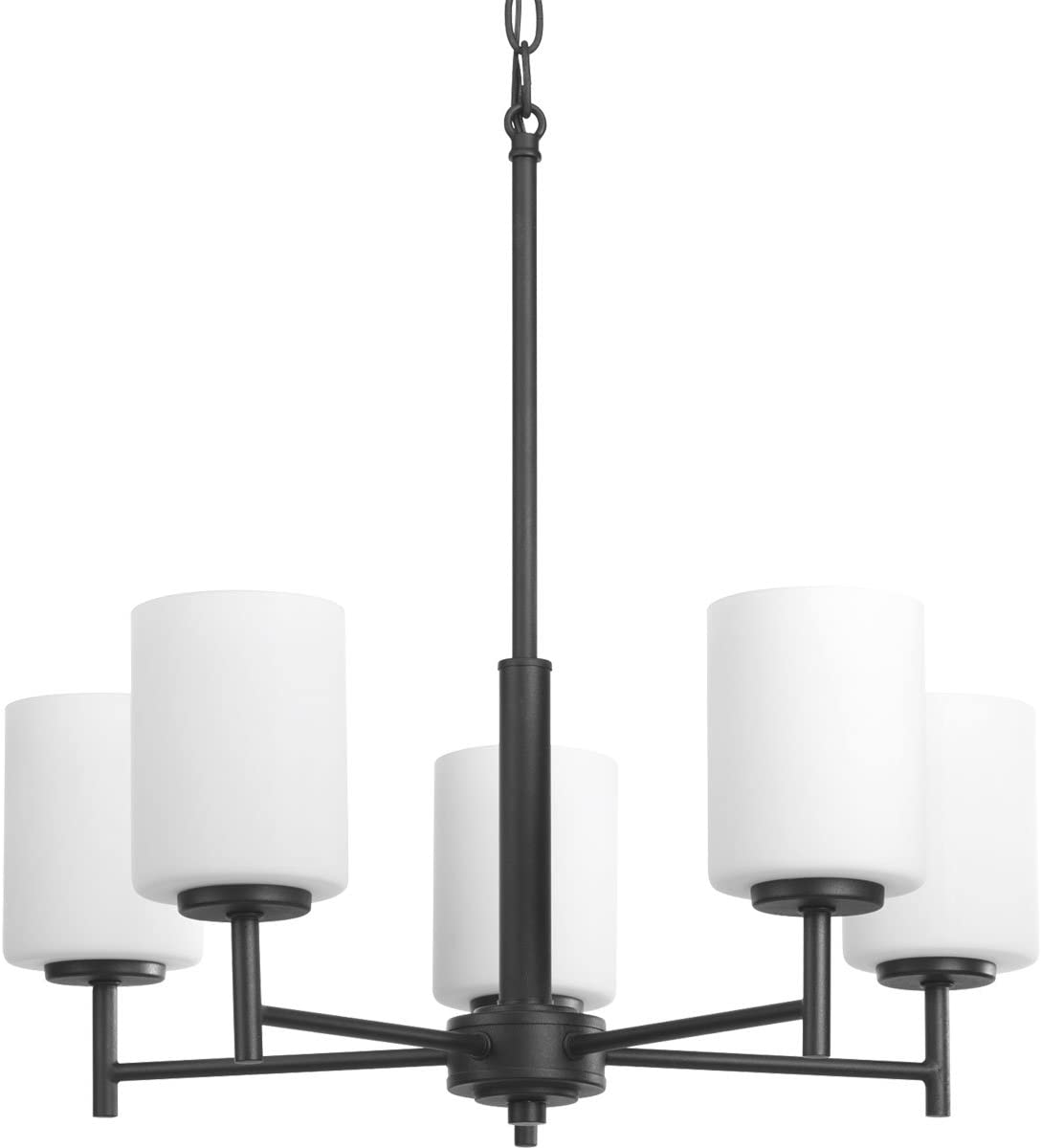 Progress Lighting P4319-31 Transitional Five Light Chandelier from Replay Collection in Black Finish