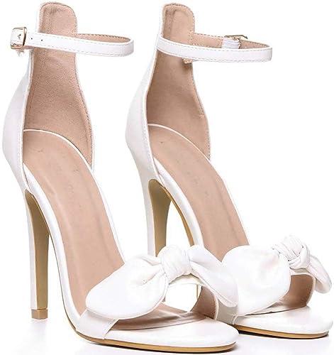 Shoe Closet Ladies White Pu Bows
