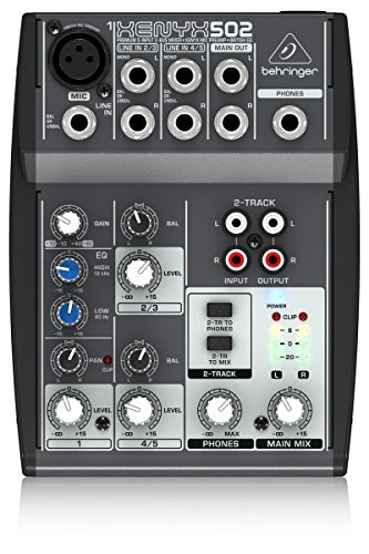 Behringer Xenyx 502 Mixer - Behringer Xenyx 502 Premium 5-Input 2-Bus Mixer With Xenyx Mic Preamp And British Eq
