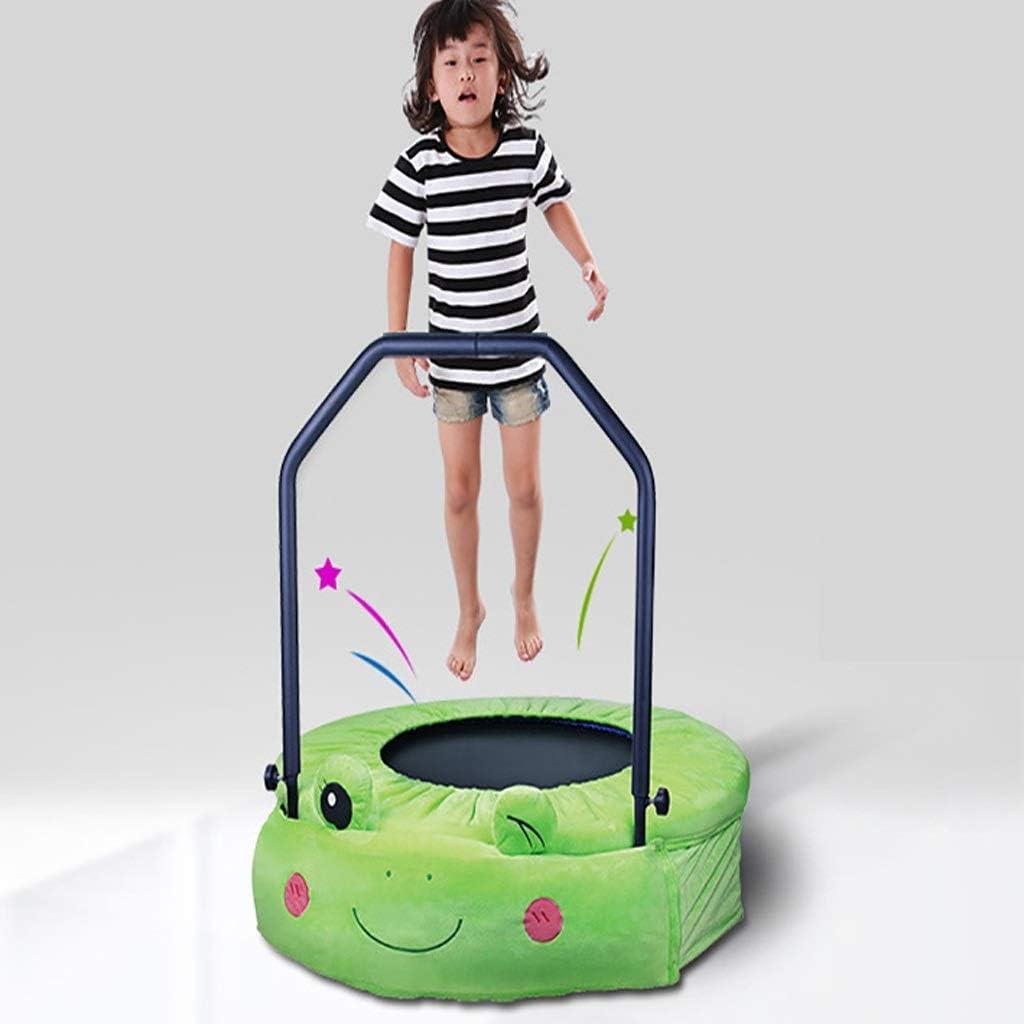Hongyan 38 Pulgadas de niños trampolín Cubierto Uso al Aire Libre Mini Plegable portátil de Salto camita con Trampolines Ajustable Barandilla de Seguridad y Cubierta Acolchada (Size : Diameter 96cm)