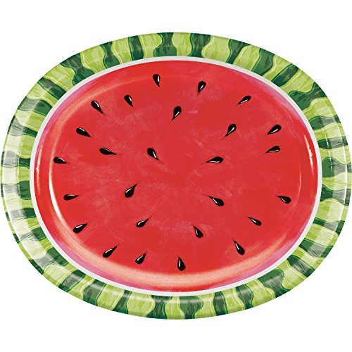 Watermelon Whimsy Oval Plates, 24 ct ()