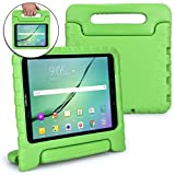Samsung Galaxy Tab S3 9.7 case for kids [SHOCK PROOF KIDS TAB S3 CASE] COOPER DYNAMO Kidproof Child Tab S3 9.7 inch Cover for Boys, Girls | Kid Friendly Handle & Stand, Light, Screen Protector (Green)