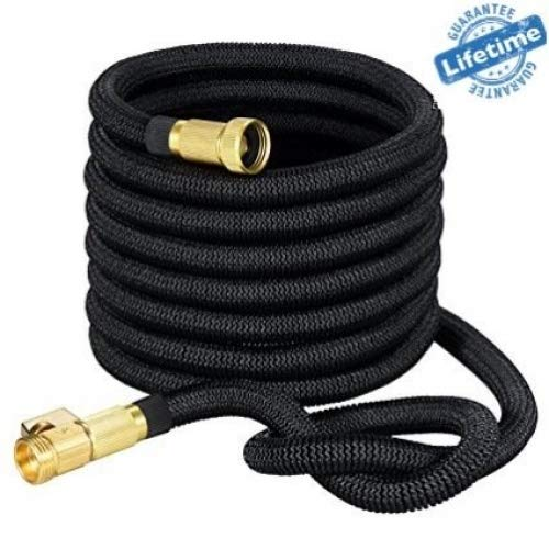 Strongest Expandable Garden Hose with Brass Fittings-Includes Spray Nozzle 50ft Retractable