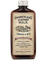 Leather Milk Leather Furniture Conditioner and Cleaner - Furniture Treatment No. 5 - for All Natural, Non-Toxic Leather Care. Made in The USA. Includes Premium Applicator Pad