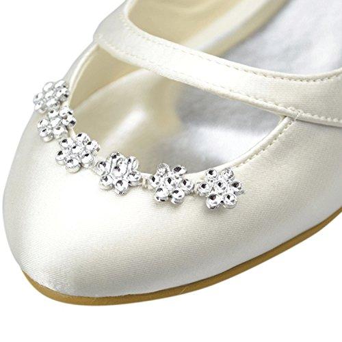 mujer Fashion Zapatos de boda Kevin fashion Marfil ga1WPzAAcn
