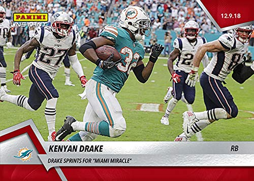 2018 Panini Instant NFL Football #147 Kenyan Drake Dolphins Sprints for Miami Miracle Print Run 151