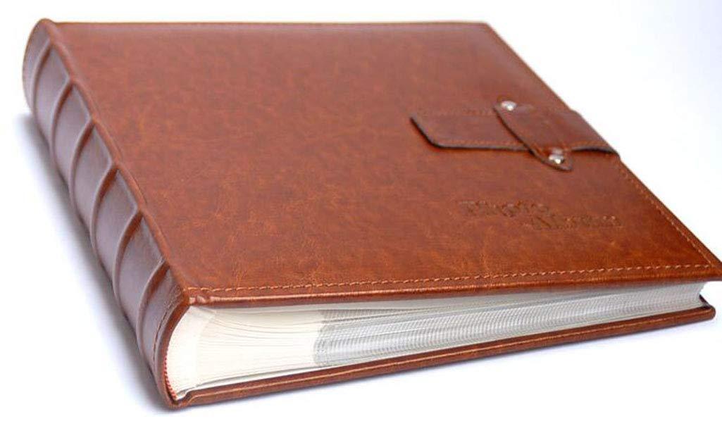 MYYDD Álbum de Fotos, Hebilla de de Hebilla cinturón de Cuero 7 Pulgadas álbum de Fotos Insertar Tipo único Libro 7 Pulgadas Foto 200 Hojas Boutique álbum Familiar,A 7c279a