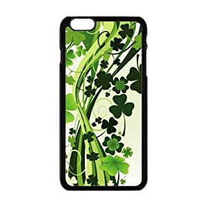 Run horse store - Just for You, Green Clovers picture for black plastic iphone 6 case (5.5 inch)