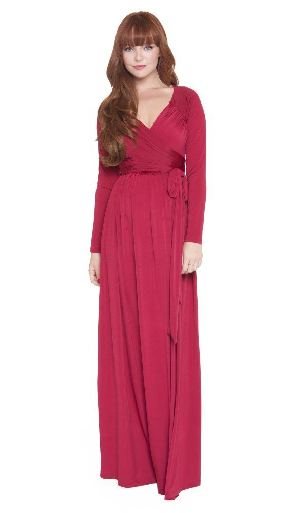 Olian Maternity Maxi Dress (X-Small, Black)